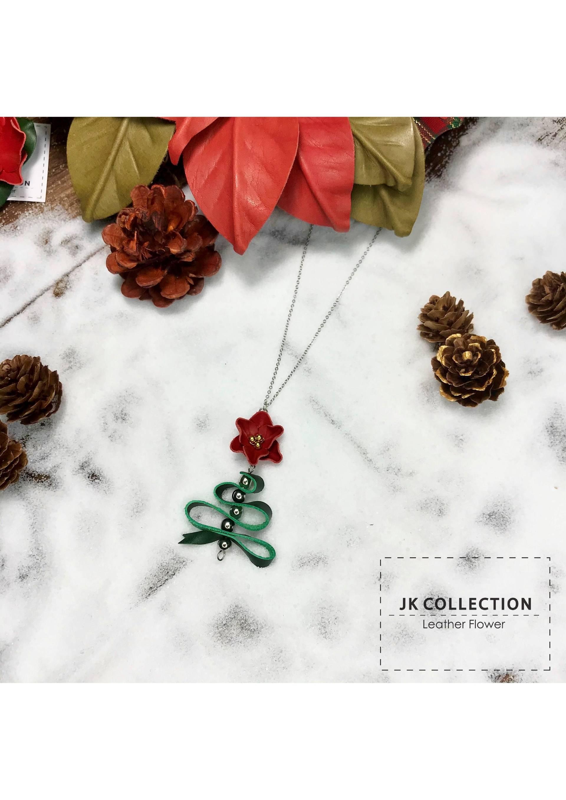 皮革聖誕花 配 絲帶聖誕樹飾物手作班 (十大匠人限定系列)